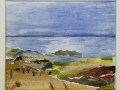 Stranden Akvarellcollage