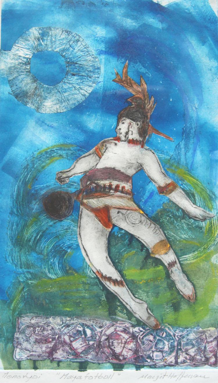 Maya fotboll, monotypi
