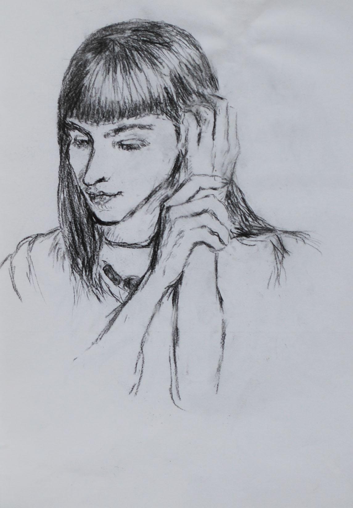 Porträtt, kol