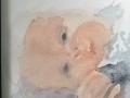 Porträtt, akvarell