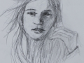 Porträtt, kol, blyerts