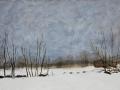 Vinterbild, 100x53, olja på pernå