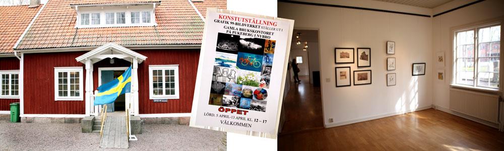 Grafik99 / bildverket hade första utställningen för året i Nybro Konstförenings lokal i Gamla Brukskontoret, Pukebergs glasbruk.