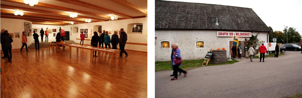 Grafik99 / bildverket var i Allégårdens lokaler under Öands skördefest